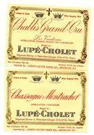 Lot Etiquette Vin Nuits Saint Georges  Bourgogne Lupé Cholet  Chablis Grand Cru - Bourgogne