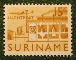 15 Ct Luchtpostzegel Airmail Airplane NVPH Nr: LP36 LP 36 1965 Used / Gestempeld SURINAME / SURINAM - Surinam ... - 1975