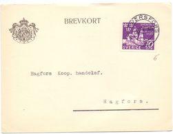 Brevkort - Briefkaart - Stempel Cachet Graversfors 1945 - Hagfors - Pub Reclame Stensliperi - Suède