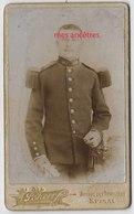 CDV  Soldat Du 149e R-mention DESROCHES Au Dos- Vers 1900-photo Scherr à Epinal - Guerre, Militaire