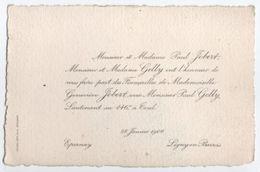 Faire-Part/ Fiancailles / Geneviéve JOBERT Et Paul GELLY/Lieutenant Au 146éme Toul /EPERNAY/1906   FPM40 - Fiançailles