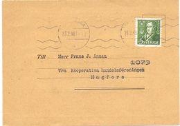 Brevkort - Briefkaart - Till Frans Anman - Hagfors 1948 - Medlemskort - Suède
