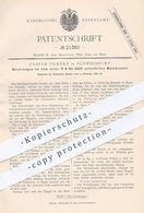 Original Patent - Caspar Pickert , Schweinfurt , 1882 , Malzwender | Malz , Darre , Bier , Hopfen , Brauerei !!! - Historische Dokumente