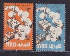 SYRIE AERIENS N°  122 & 123 ** MNH Neufs Sans Charnière, Tâche De Rousseur, B/TB (D5645) Festival Du Coton - Syrie