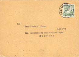 Brevkort - Briefkaart - Till Frans Anman - Hagfors 1944 - Medlemskort - Stempel Cachet Trelleborg - Suède