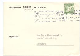 Brevkort - Briefkaart - Stempel Cachet Stockholm 1944  - Hagfors - Pub Reclame Parfumerie Seger - Suède