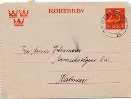 Kortbrev - Briefkaart - Stempel Cachet Oskarshamn 1953 - Suède