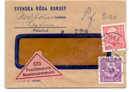 Enveloppe Kuvert - Pub Reklam Svenska Röda Korset  - Till Hagfors Sverige Suède Zweden 1944 - Suède