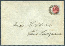 Denmark 8 Ore Kjobenh. Baneg.JB Railway Train Cover - 1864-04 (Christian IX)