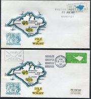 1971 GB Postal Strike Covers X 2 VECTIS, Isle Of Wight - 1952-.... (Elizabeth II)