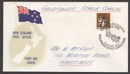 1972  Goldfields Stage Coach Mail Dunedin - Alexandra  Stage-Coach Mail - New Zealand