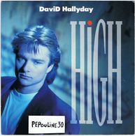 ** DAVID HALLYDAY ** (A) - HIGH \\  (B) - TRUE COOL ** 1988 ** SCOTTI  BROS. - Disco, Pop