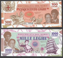 PADANIA  : 500 Leghe + 1000 Leghe - 1993 - [ 2] 1946-… : Républic