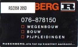 Telefoonkaart  LANDIS&GYR NEDERLAND * RDZ.058 205D * RASENBERG * Pays Bas Niederlande  ONGEBRUIKT * MINT - Nederland