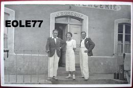 50 - Carte Photo - AUMEVILLE - LESTRE - Epicerie - Cafe - Mercerie - SURCOUF - Devanture - Le Carrefour - Other Municipalities