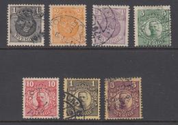 Sweden - 1910 Michel 57-63 Used, Ref 03-21 - Usati