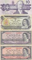 Lot De 4 Billets Du CANADA - Canada