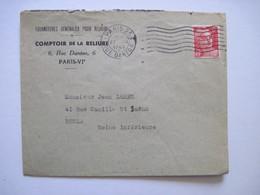 1947 Comptoir De La Reliure  PARIS VIeme - Marcophilie (Lettres)