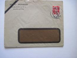 1948 HENRI PERRIER BARENTIN - Marcophilie (Lettres)