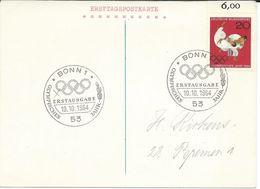 Erstttagspostkarte PRIVATE ???,Sports > Wrestling,Olympic Games 1964 - Ringen