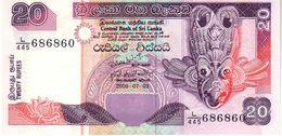 Sri Lanka P.116  20 Rupees 2006 Unc - Sri Lanka