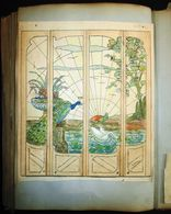 LARGE WORKPLACE BOOK FROM STAINED GLASS PAINTER - ART DECO - FOR ARCHITECT OF DECORATOR - HUNDREDS OF EXAMPLES - Glass & Crystal