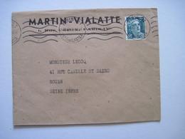 1947 MARTIN-VIALATTE PARIS IVe - Marcophilie (Lettres)