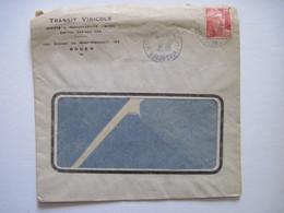 1945 TRANSIT VINICOLE ROUEN - Marcophilie (Lettres)