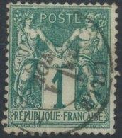 [56191] O/Used-N° 61, 1c Vert Type I - 1876-1878 Sage (Type I)