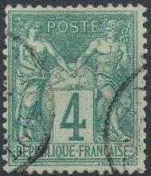 [56193] O/Used-N° 63, 4c Vert Type I - 1876-1878 Sage (Type I)