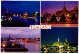 Thailand. Bangkok At Night. Multivision. VG. - Tailandia