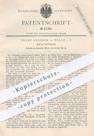 Original Patent - Franz Groeber , Halle / Saale , 1882 , Ausziehtisch | Tisch , Tisch , Holztisch , Tischler , Möbel !!! - Historical Documents