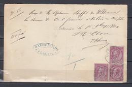 Briefstukje Van Gedinne - 1884-1891 Léopold II