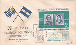 FDC-3ra MUESTRA FILATELICA RIOPLATENSE. MONTEVIDEO.-URUGUAY-TBE-BLEUP - Uruguay