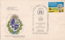 FDC-REUNION DE ALTO NIVEL SOBRE DERECHO AMBIENTAL, PNUMA.-URUGUAY-TBE-BLEUP - Uruguay