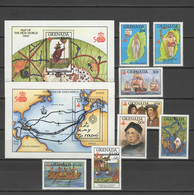 Grenada 1987 Christopher Columbus, 500th Anniversary Of Discovery Of America, Ships Set Of 8 + 2 S/s MNH - Cristoforo Colombo