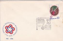 FDC-BI CENTENARIO DE EEUU. MUESTRA FILATELICA.-URUGUAY-TBE-BLEUP - Uruguay