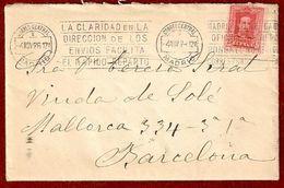 N.º 317a. Carta Circulada De Madrid A Barcelona - 1889-1931 Kingdom: Alphonse XIII