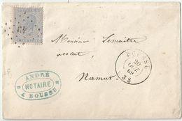 6Rm-045:  N° 18: Ps: 49: BOUSSU > NAMIR 21 OCT 69 - 1865-1866 Profil Gauche