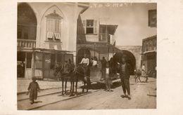 TRIPOLI. Station Du Tramway. (wagon Attelé à 2 Chevaux, Enfant, Animation). - Siria