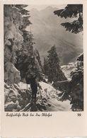 AK Rast Bei Der Abfahrt Alpen Berge Winter Ski Skifahrer Bayern Allgäu Österreich Schweiz Südtirol Stempel Sonthofen - Alpinismus, Bergsteigen