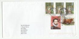 2013 Overton Basingstoke GB Stamps COVER Cattle Garden Frobisher, Cds - 1952-.... (Elizabeth II)
