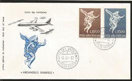 J) 1962 VATICAN CITY, ARCHANGEL GABRIEL, MULTIPLE STAMPS, FDC - Vatican