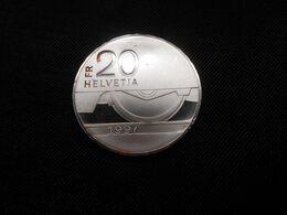 CH 20 Franken Sonder-Münze 1997 B (Silber)  Ll Uz  -  Eisenbahn - Suisse