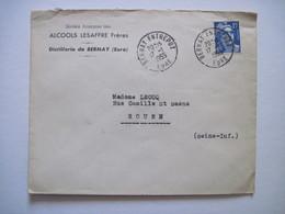 1955 ALCOOLS LESAFFRE Frères Distillerie De BERNAY (Eure) - 1921-1960: Modern Tijdperk