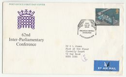 1975 Air Mail GB FDC To HONG KONG  Parliament Stamps Cover - FDC