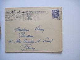 1952 PRINTANIA ROUEN - Marcophilie (Lettres)