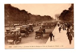 75 - PARIS . AVENUE DU BOIS DE BOULOGNE ET L'ARC DE TRIOMPHE DE L'ETOILE - Réf. N°7917 - - Francia