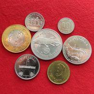 Comoros Set 5 10 10 25 50 100 250 Francs 1992 2001 2013  Comores UNC - Comoros