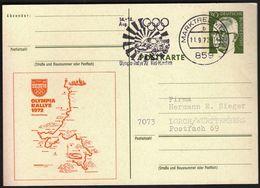 Germany Marktredwitz 11.9. 1972 / Olympic Games / Olympic Rally '72 Kiel - Munich / Machine Stamp / Winner - Back Side - Sommer 1972: München